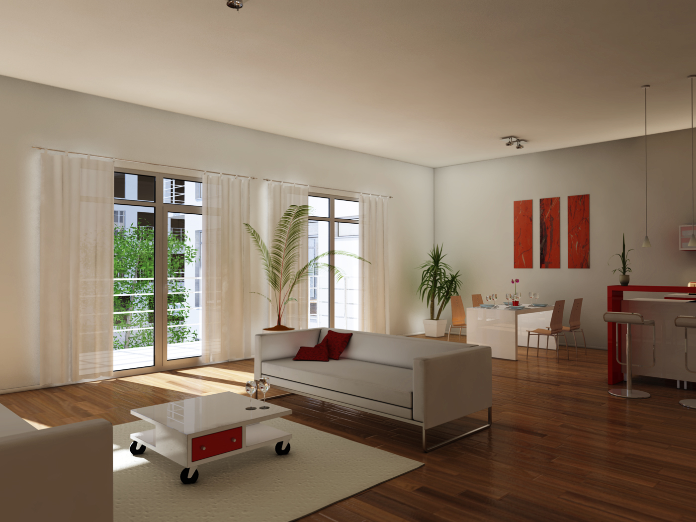 Visualisierung Wohnzimmer FX Design